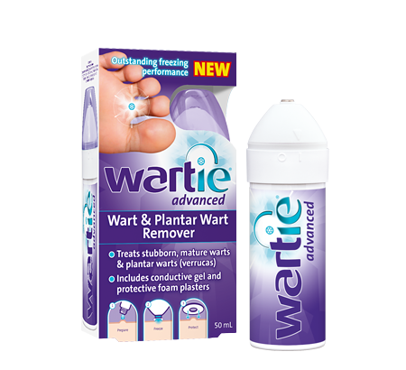 Wartie Advanced treats stubborn, mature warts & plantar warts (verrucas)